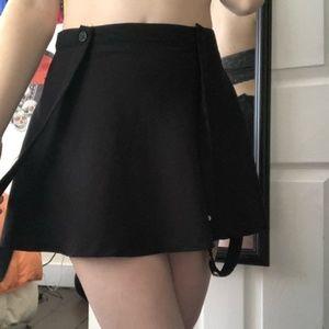 Royal bones black Mini skirt